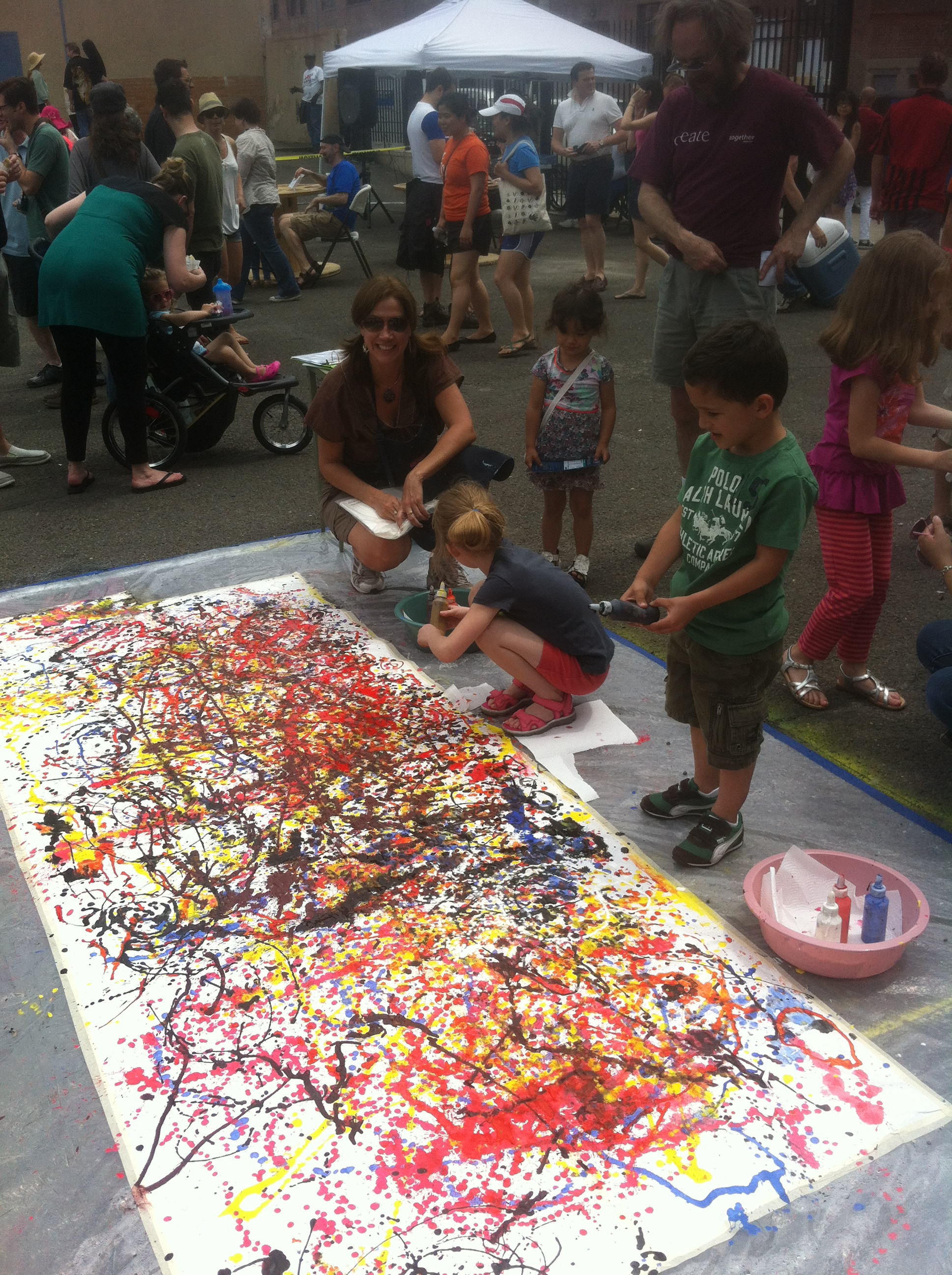 Pollock Painting and Learning